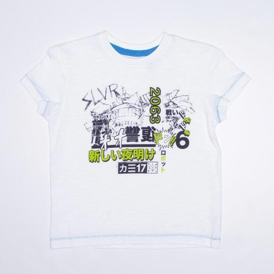 Camiseta Manga Corta SILVER TRACKSUITS Blanco Niño