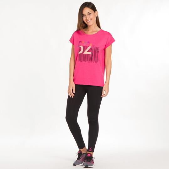 Camiseta Casual SILVER START Fucsia Mujer