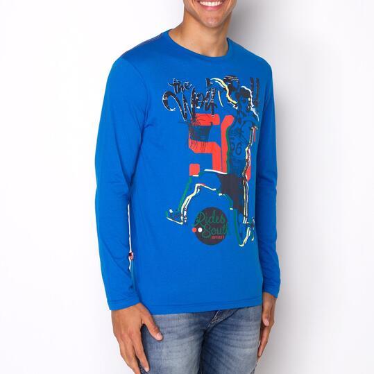 Camiseta SILVER BALONMANO Azul Hombre