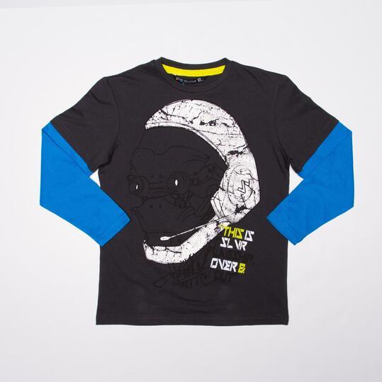 Camiseta Manga Larga SILVER FLAGSHIP Gris Niño (10-16)