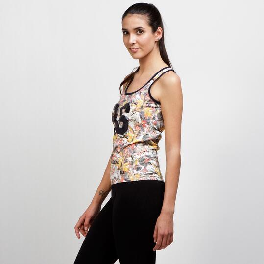 Camiseta Tirantes Estampada TRUNK&ROOTS Mujer