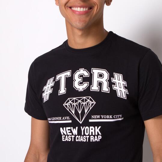 Camiseta Manga Corta Negra TRUNK&ROOTS Hombre