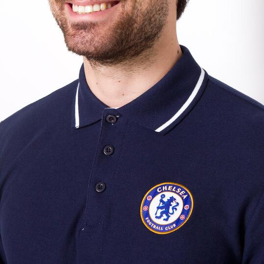 Polo Manga Larga CHELSEA SOURCE LAB Azul Hombre