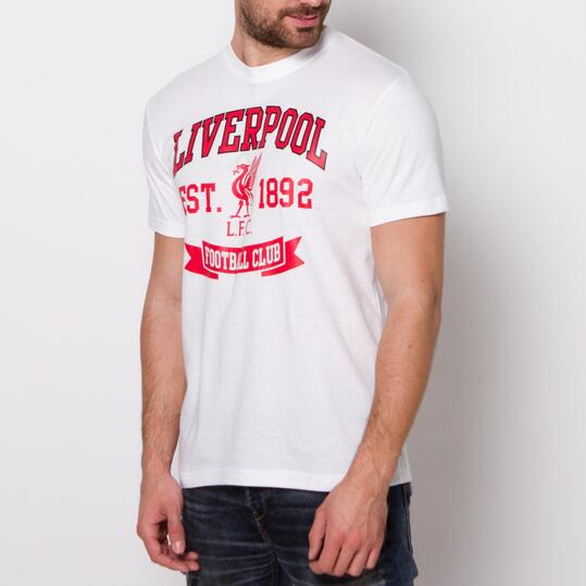 Camiseta Manga Corta LIVERPOOL SOURCE LAB Blanca Hombre