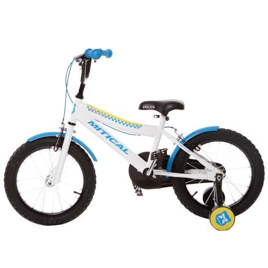 "MÍTICAL POLICE 16"" Bicicleta Niño Blanca"