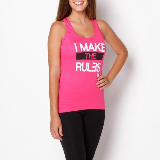 UP STAMPS Camiseta Tirantes Fucsia Mujer