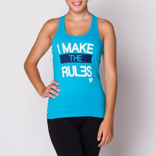 UP Camiseta Tirantes Turquesa Mujer