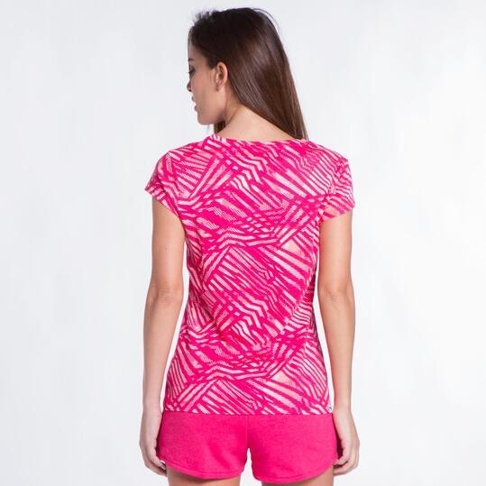 PUMA FUN Camiseta Estampada Fucsia Mujer