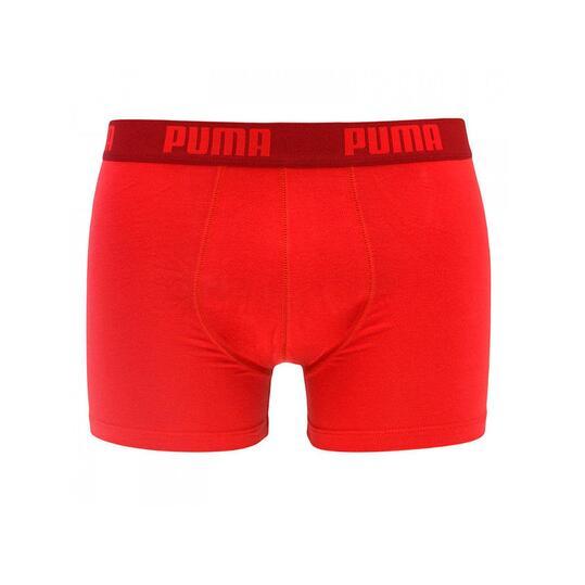 PUMA Calzoncillos Boxer Rojo Gris