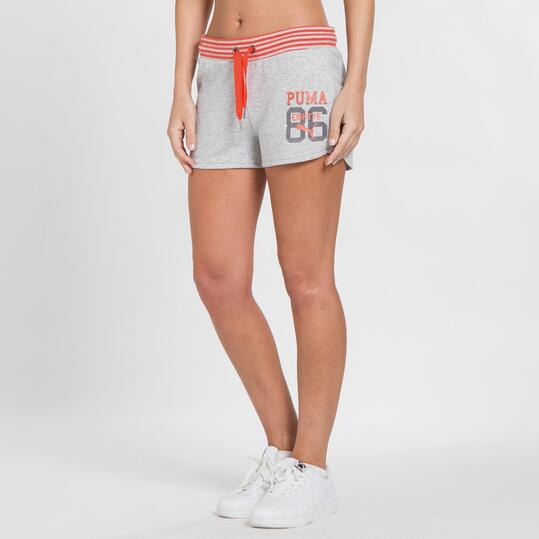 PUMA STYLE Pantalón Corto Gris Mujer