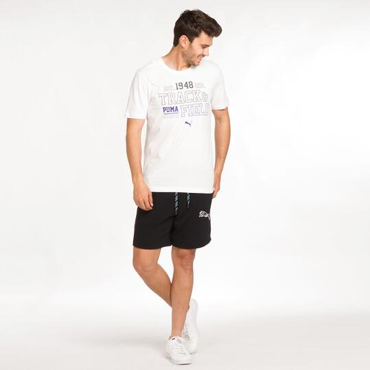 PUMA STYLE Camiseta Blanca Hombre
