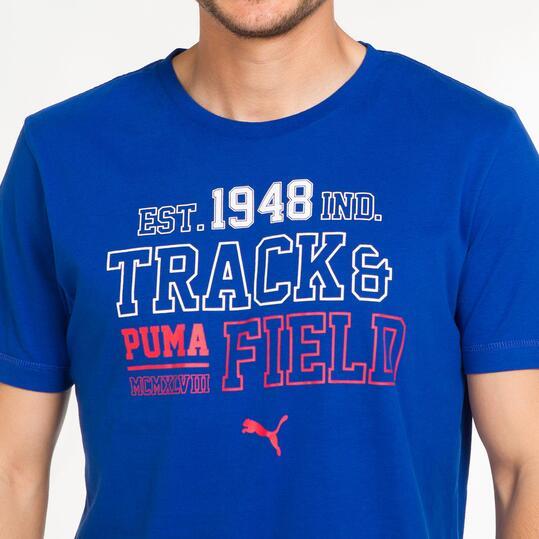 PUMA STYLE Camiseta Azul Hombre