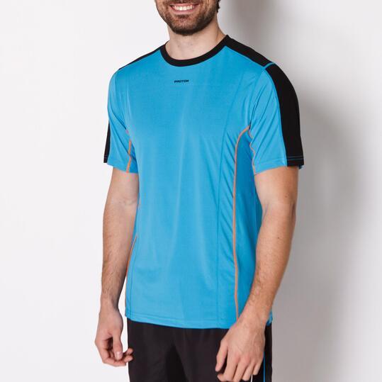 Camiseta Tenis Manga Corta PROTON Azul Hombre