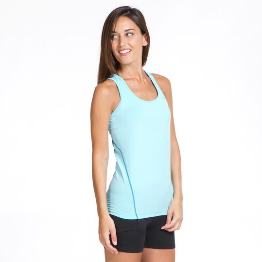 Camiseta Tirantes PROTON BASIC Azul Mujer