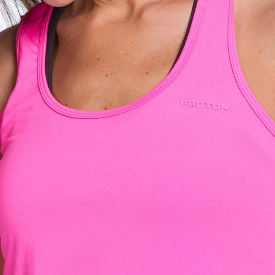Camiseta Tirantes PROTON BASIC Fucsia Mujer