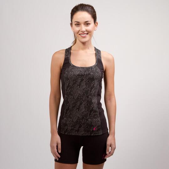 Camiseta Nadadora ILICO BRONCE Negro Mujer