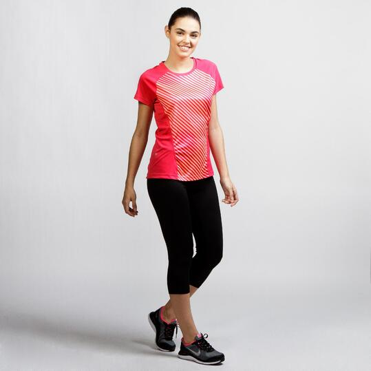 PUMA GRAPHIC Camiseta Running Coral Mujer