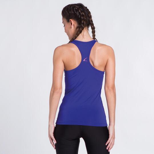 Camiseta Azul Yoga ILICO Mujer