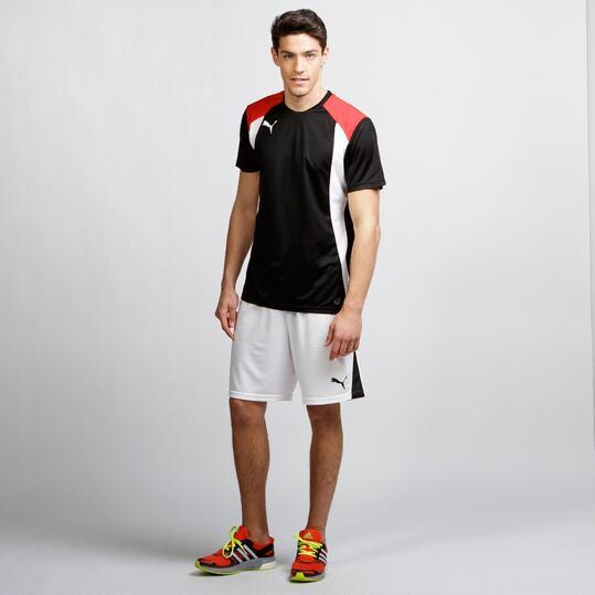 PUMA Camiseta Fútbol Negro Blanco Hombre