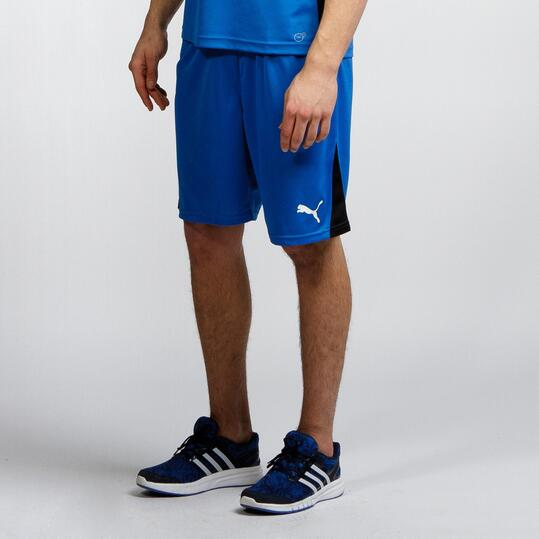 PUMA Pantalón Fútbol Azul Hombre