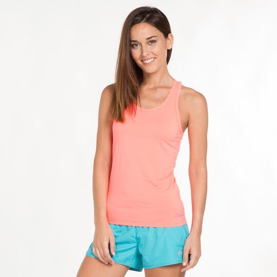 Camiseta Gym Tirantes ILICO Coral Mujer