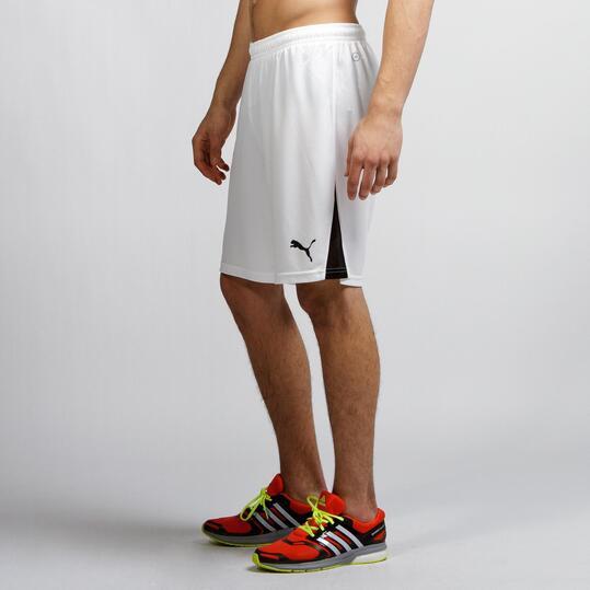 PUMA Pantalón Fútbol Blanco Hombre