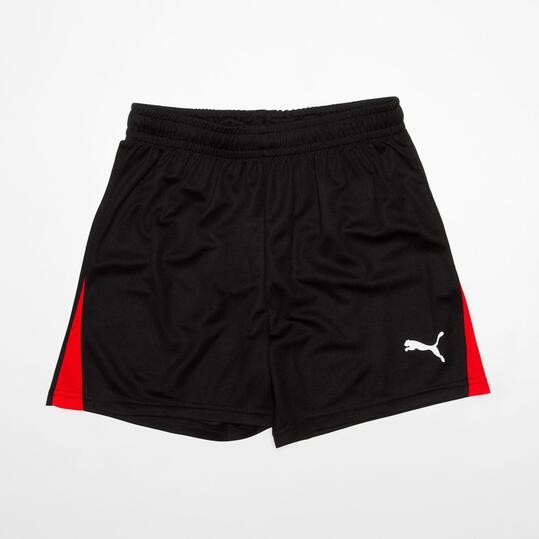 PUMA Pantalón Corto Fútbol Negro Niño