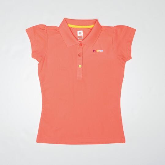 Polo Tenis PROTON BASIC Coral Niña (10-16)