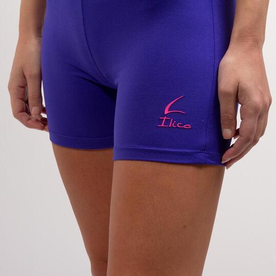 Mallas Cortas Fitness ILICO Azul Mujer