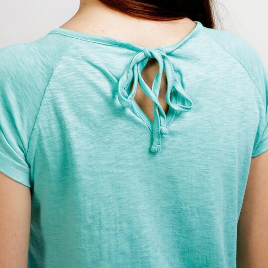 ILICO Camiseta Manga Corta Turquesa Mujer