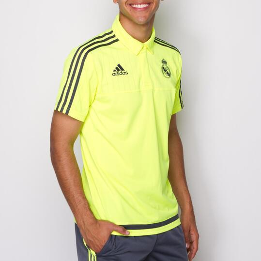 ADIDAS Polo Real Madrid Amarillo Hombre