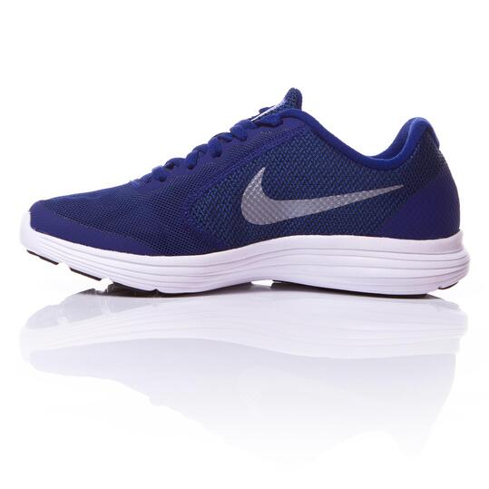 NIKE REVOLUNTION 3 Zapatillas Running Marino Niño (36,5-39)