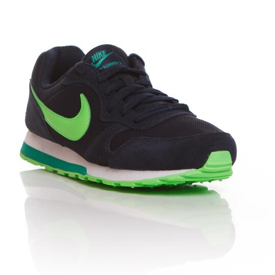 NIKE RUNNER Sneakers Marino Verde Niño (36,5-39)