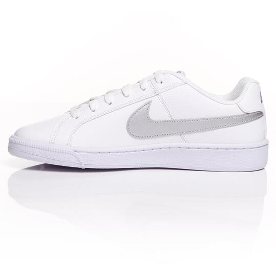nike court royale mujer plata