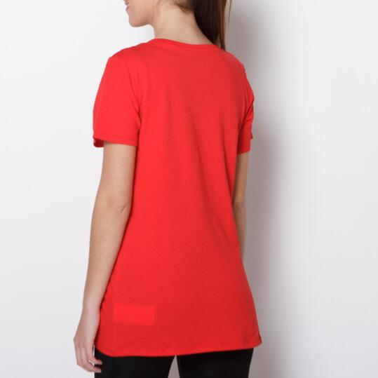 NIKE SHADOW Camiseta Casual Rojo Mujer