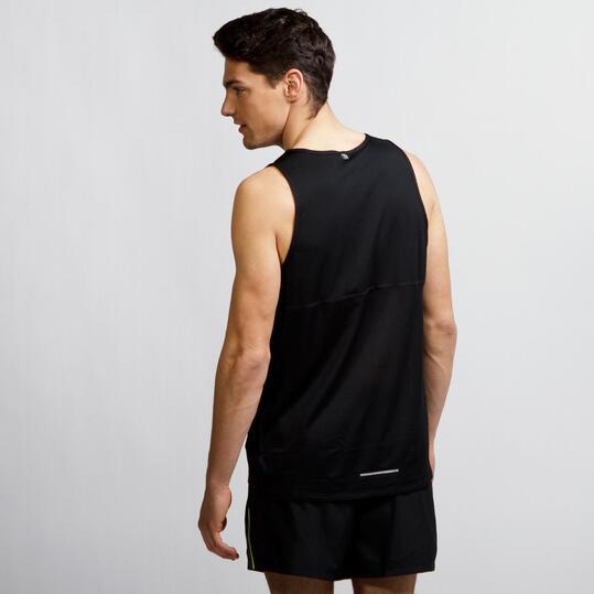 NIKE RACER SINGLET Camiseta Running Tirantes Negro Hombre