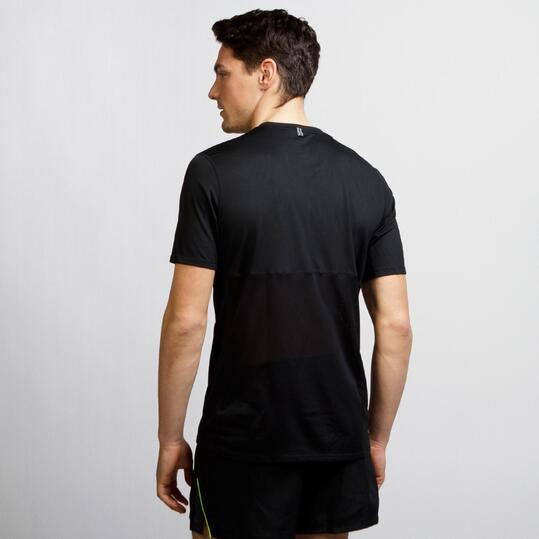 NIKE RACER Camiseta Running Negro Hombre