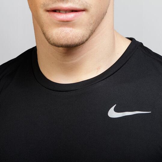 NIKE RACER SS Camiseta Running Negro Lima Hombre