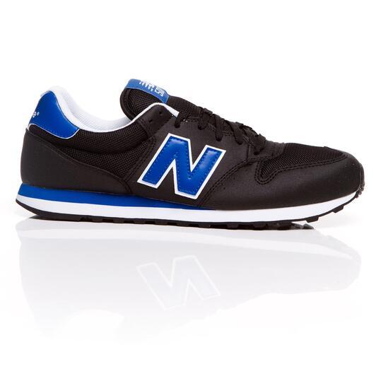NEW BALANCE Sneakers Negro Azul hombre