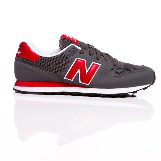 NEW BALANCE Sneakers Antracita Rojo Hombre