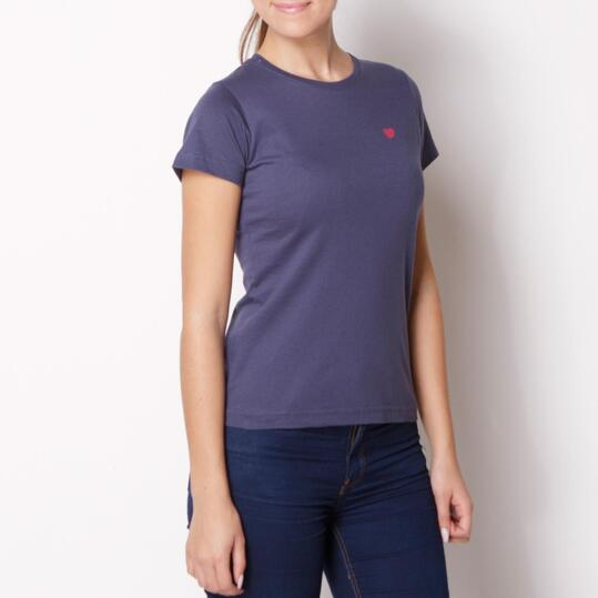 UP BASIC Camiseta Manga Corta Denim Mujer