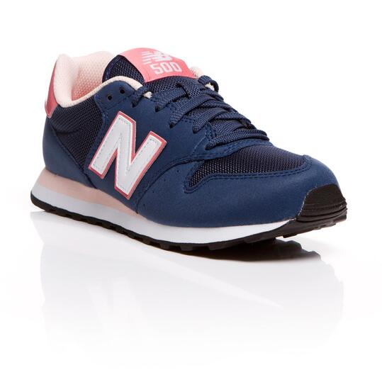 NEW BALANCE Sneakers Azul Rosa Mujer