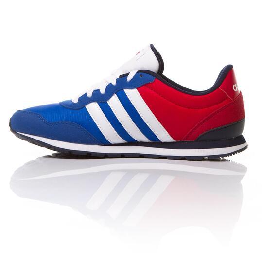 ADIDAS JOG Sneakers Niño Azul Rojo (36-40)