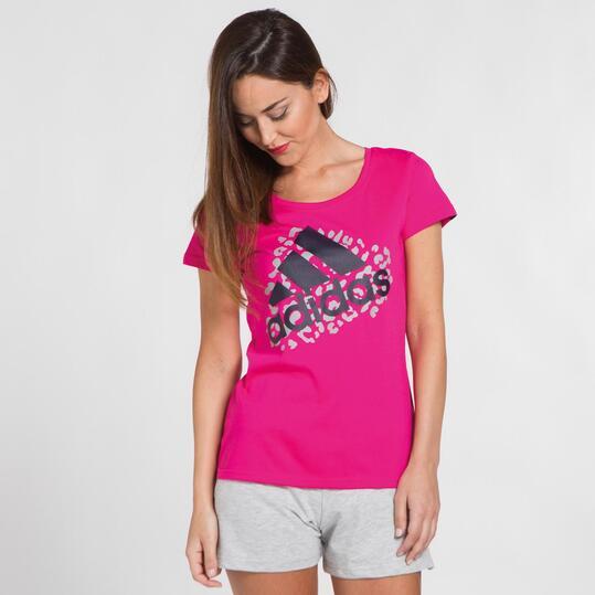 ADIDAS Camiseta Fucsia Mujer