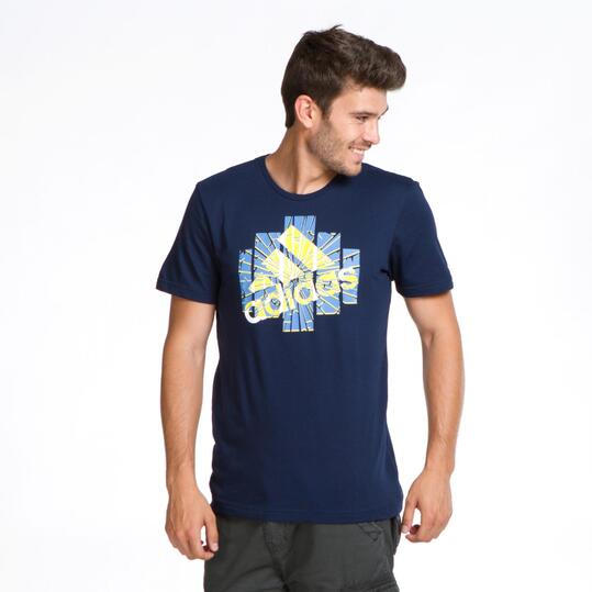 ADIDAS GRPH Camiseta Manga Corta Marino Hombre