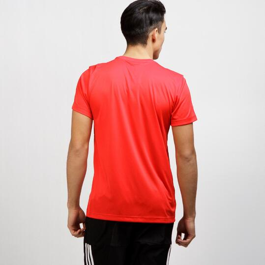 ADIDAS Camiseta Deportiva Roja Hombre