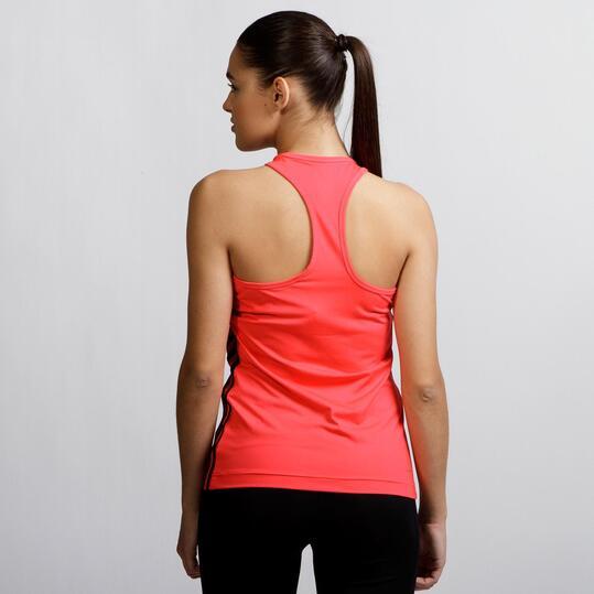 ADIDAS BASIC Camiseta Roja Mujer