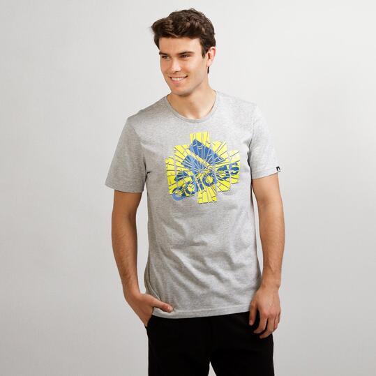ADIDAS GRPH Camiseta Gris Hombre