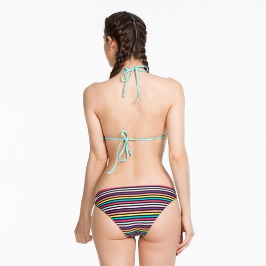 Top Bikini Triángulo UP BASIC Turquesa