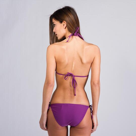 Top Bikini Triángulo UP BASIC Morado